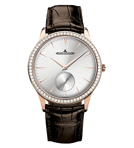 JAEGER LE COULTRE Q1352520 Master Ultra Thin stainless steel and alligator leather watch