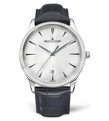 JAEGER LE COULTRE Q1283501 Master 18ct white gold and diamond watch