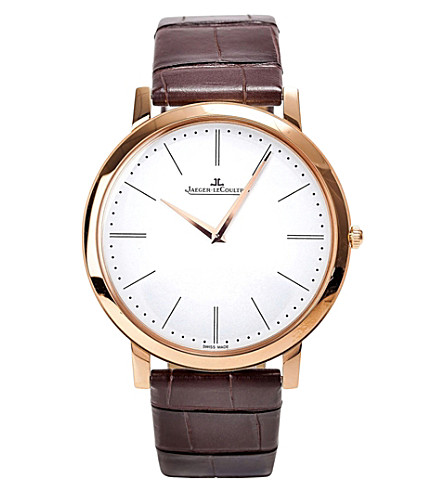 JAEGER LE COULTRE Q1292520 Master manual stainless steel and alligator leather watch