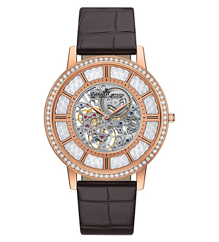 JAEGER LE COULTRE Q1342501 Master Ultra Thin 18ct rose-gold, mother-of-pearl and diamond watch