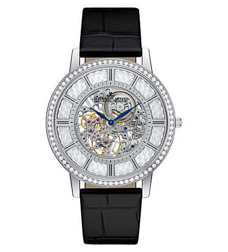 JAEGER LE COULTRE Q1343501 Master Ultra Thin 18ct white-gold, mother-of-pearl and diamond watch