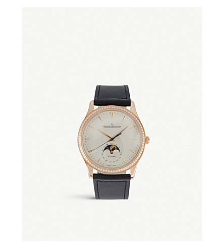JAEGER LE COULTRE 1368420 Master alligator-leather and stainless steel watch
