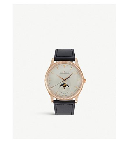 JAEGER-LECOULTRE 1368420 大师鳄鱼皮革和不锈钢腕表