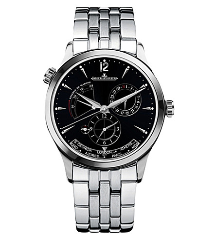 JAEGER LE COULTRE 1428171 Master Geographic stainless steel watch