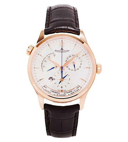 JAEGER LE COULTRE Q1532520 master geographic automatic 18ct rose gold watch