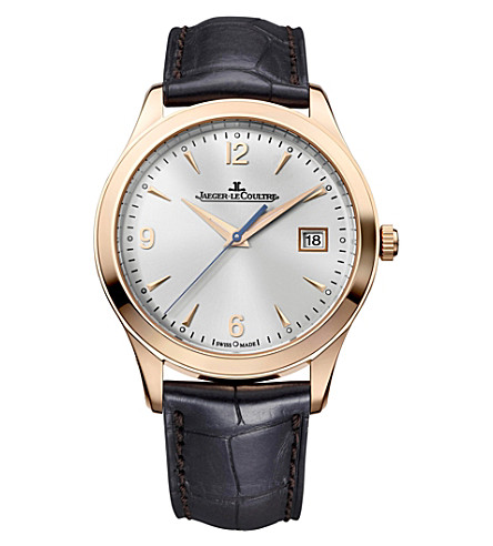 JAEGER-LECOULTRE Q1542520 Master 18ct pink gold and leather watch