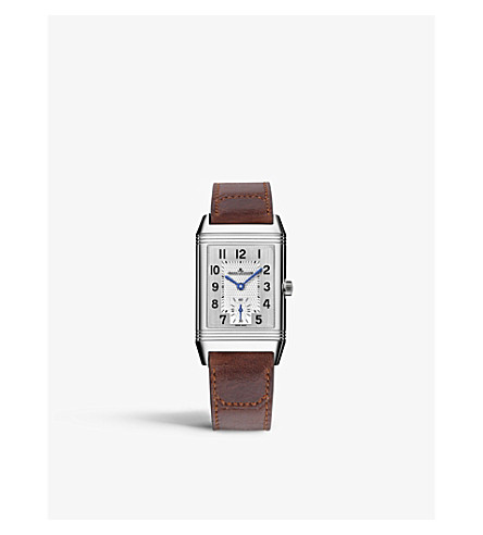 JAEGER LE COULTRE Q2438520 Reverso stainless steel and alligator strap watch