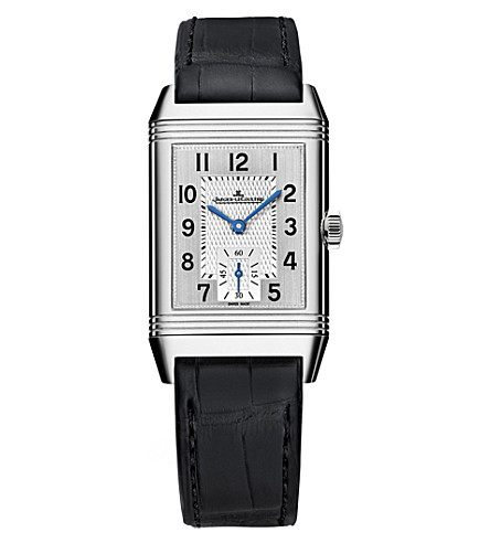 JAEGER LE COULTRE Q2458420 Reverso Classic duoface stainless steel and alligator leather watch