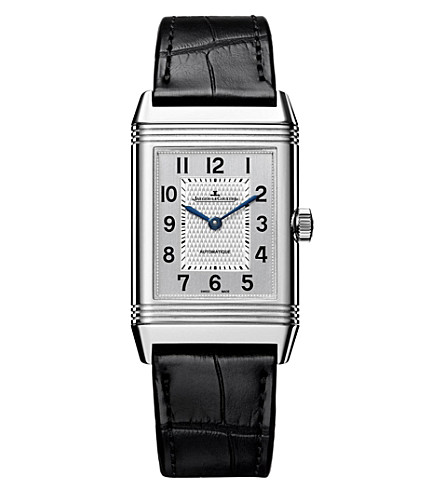 JAEGER LE COULTRE 2538420 Reverso stainless steel and alligator leather watch