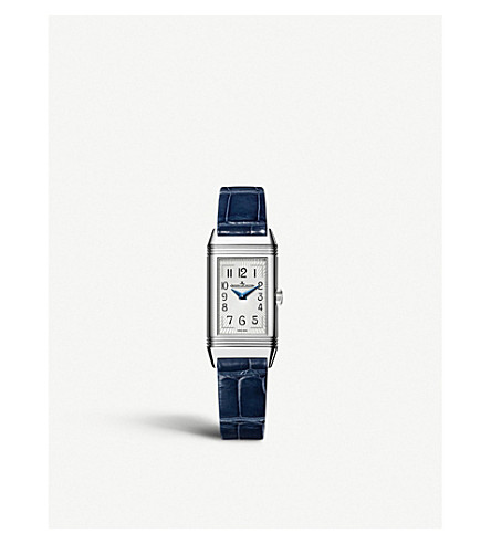 JAEGER LE COULTRE Q2618430 Reverso alligator leather watch