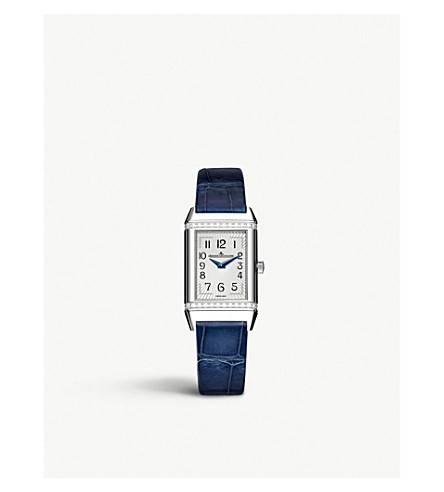 JAEGER LE COULTRE Q3288420 Reverso stainless steel and leather