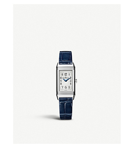 JAEGER LE COULTRE Q3358420 Reverso stainless steel and alligator leather watch