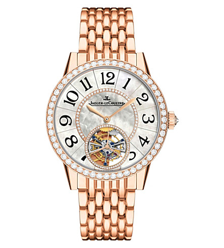 JAEGER LE COULTRE Q3412105 Rendez-Vous 18ct rose-gold, mother-of-pearl and diamond watch