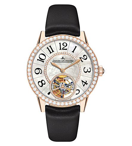 JAEGER LE COULTRE Q3412405 18ct rose-gold stainless steel automatic watch