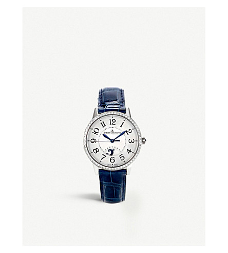 JAEGER LE COULTRE Q3448420 Rendez-vous stainless steel and alligator leather watch