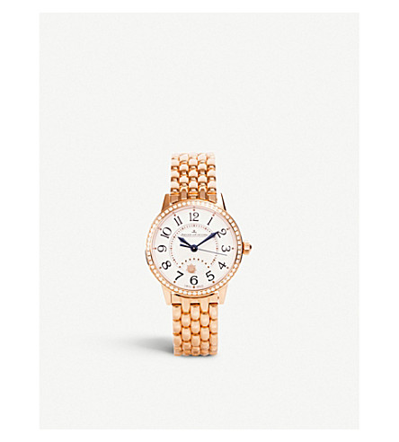 JAEGER LE COULTRE Rendez-Vous Night & Day rose-gold watch