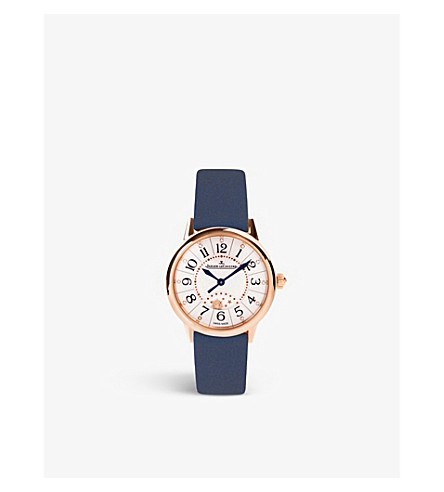 JAEGER LE COULTRE Q3462490 Rendez-vous 18kt rose-gold automatic alligator strap watch
