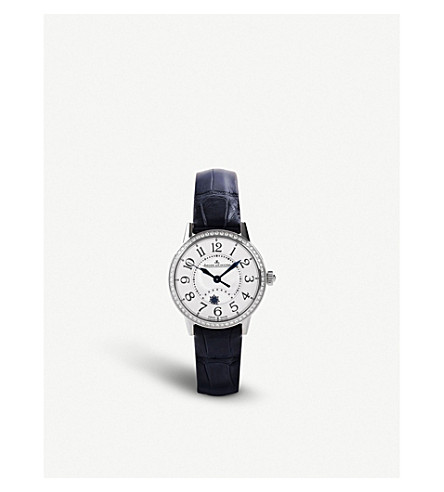 JAEGER LE COULTRE Q3468421 Rendez-vous stainless steel and alligator leather watch