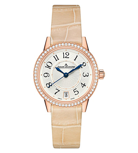 JAEGER LE COULTRE Q3512520 rose gold and diamond watch