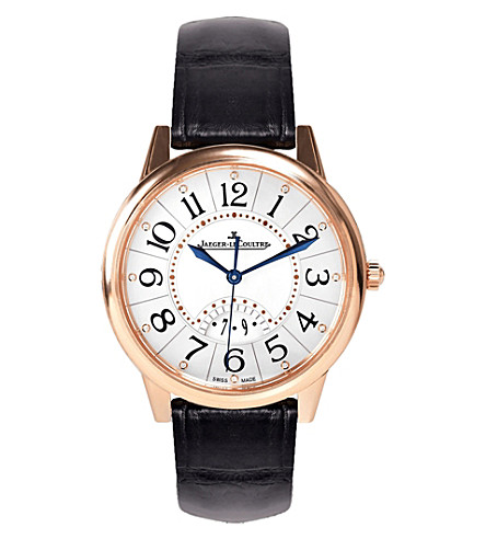 JAEGER LE COULTRE Q3542490 Rendez-Vous rose gold-plated stainless steel and leather watch