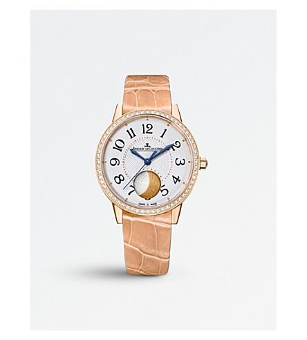 JAEGER LE COULTRE Rendez-vous moon pink-gold and alligator watch
