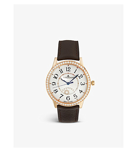 JAEGER LE COULTRE Q3612420 Rendez-vous rose gold, diamond and alligator watch