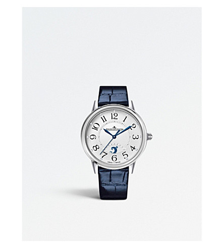 JAEGER LE COULTRE Q3618490 Rendez-vous stainless steel and alligator-leather watch