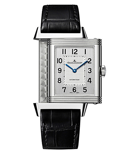 JAEGER LE COULTRE 3828420 reverso classic large steel and leather watch