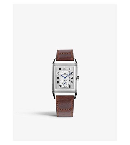 JAEGER LE COULTRE Q3858520 Reverso Classic stainless steel and alligator leather watch