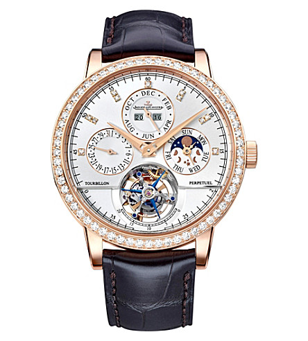 JAEGER LE COULTRE Q5042401 Master Grand Tradition 18K rose-gold and diamond watch
