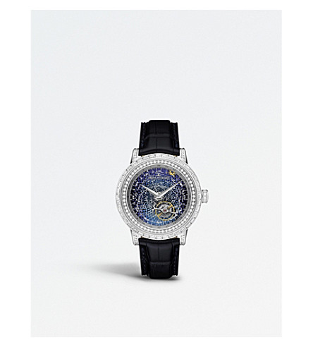 JAEGER LE COULTRE Q5073401 Master Grande Tradition Tourbillon Céleste 18K white gold alligator strap watch