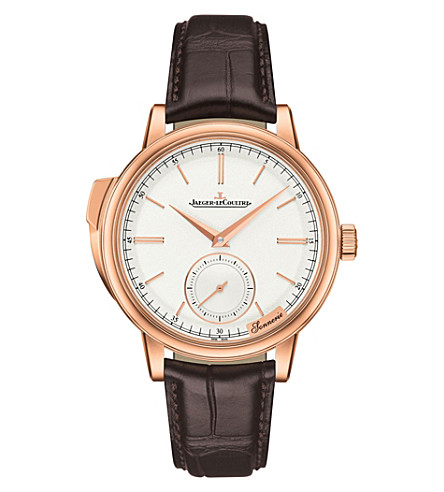 JAEGER LE COULTRE Q5092420 Master Grande minute repeater rose gold and alligator-leather watch