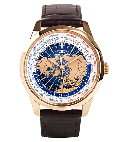 JAEGER-LECOULTRE Q8102520 Geophysic Worldtime stainless steel and alligator leather watch