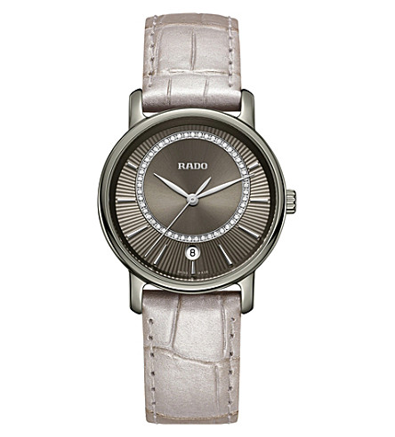 RADO R14064715 Diamaster ceramic and leather watch