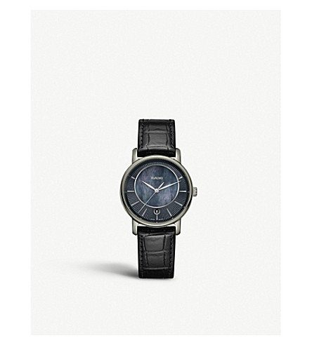RADO R14064915 DiaMaster ceramic and leather watch