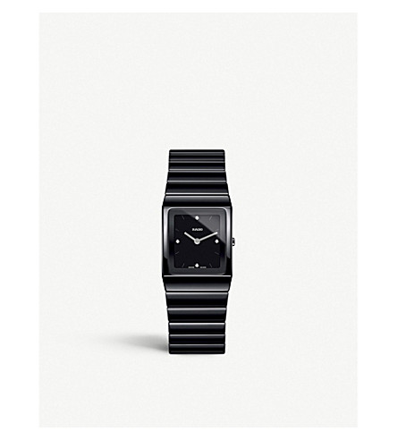 RADO R21702702 Ceramica 黑色高科技陶瓷手表