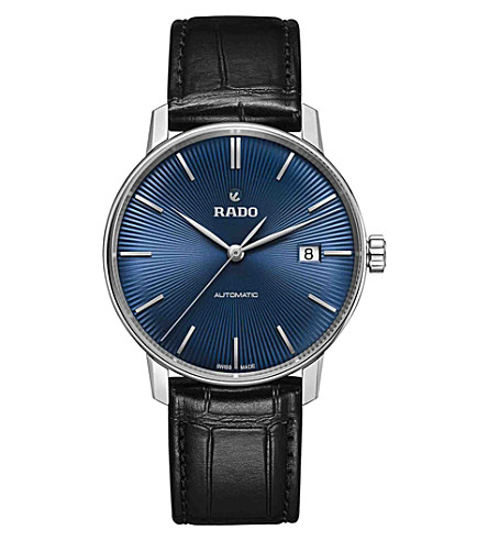 RADO R22860205 Coupole Classic stainless steel and leather watch