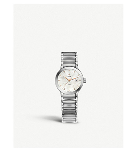 RADO R30027923 Centrix mother-of-pearl and stainless steel watch