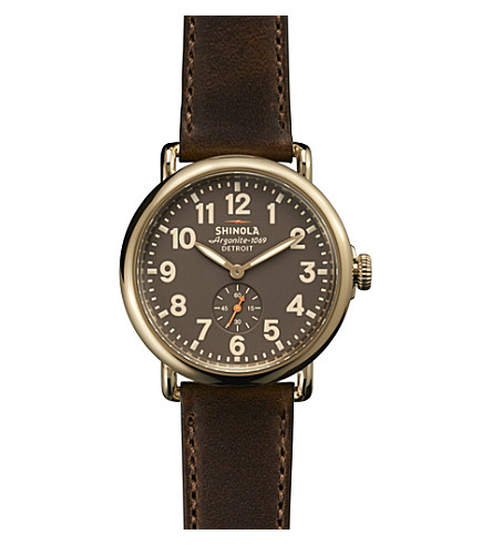 SHINOLA S0100070 Runwell stainless steel watch (Cream