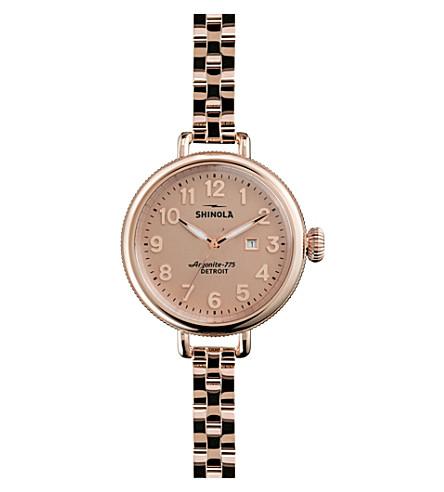 SHINOLA S0200009 Unisex Birdy gold-tone stainless steel watch (Pink