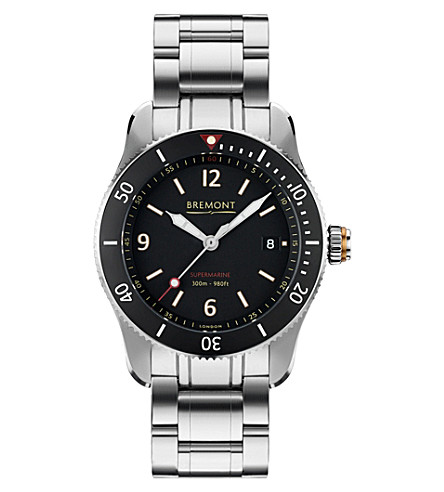 BREMONT S300BKBR Supermarine automatic stainless steel watch