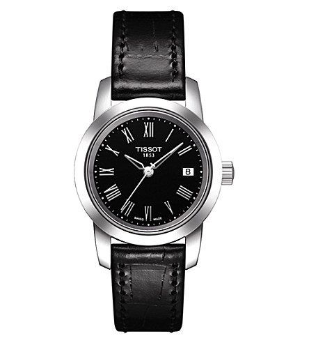 TISSOT T0332101605300 Classic Dream leather watch