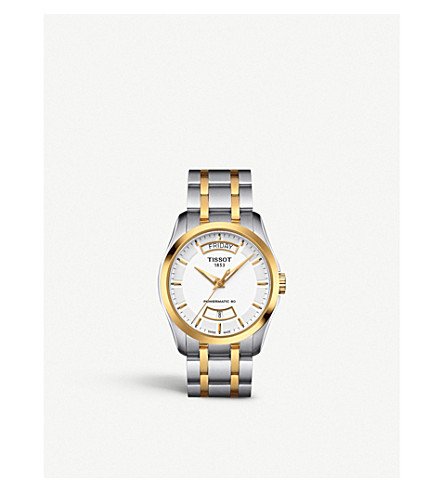 TISSOT T0354072201101 Couturier stainless steel and gold-plated watch