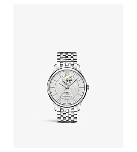 TISSOT T0639071103800 Powermatic 80 不锈钢自动手表