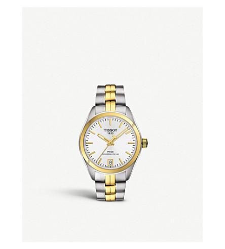 TISSOT T1012072203100 公关 100 Powermatic 不锈钢黄金自动手表