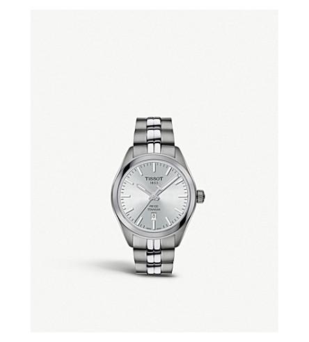 TISSOT T1012104403100 PR 100 titanium and stainless steel quartz watch