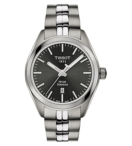 TISSOT T1012104406100 PR 100 stainless steel watch