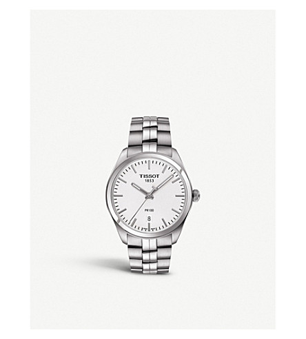 TISSOT T101.410.11.031.00 PR 100 stainless steel watch