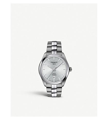 TISSOT T1014104403100 T-Classic PR 100 titanium quartz watch