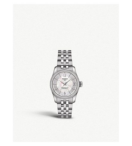 TISSOT T1082081111700 Ballade stainless steel and mother-of-pearl automatic watch